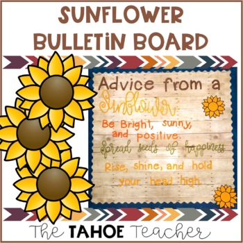 Sunflower Bulletin Board | With Writing Prompt