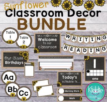 Sunflower Classroom Decor BUNDLE