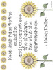 Sunflower Classroom Labels and Room Decor