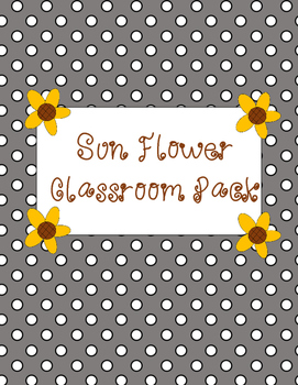 Sunflower Classroom Pack