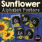 Sunflower Classroom Theme Alphabet Posters