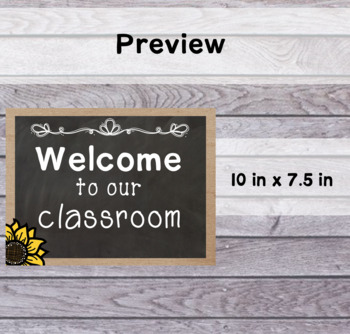 Sunflower Classroom Welcome and Schedule Posters