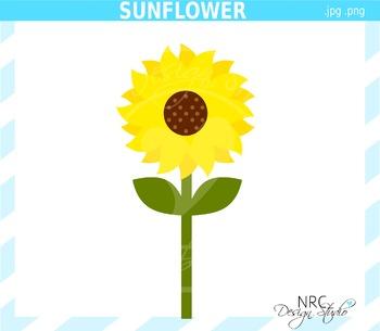 Sunflower Clip Art - Commercial Use Clipart
