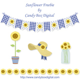 Sunflower Clipart Freebie