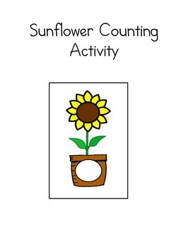 Sunflower Counting Activity