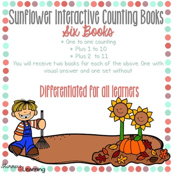 Sunflower Counting Books: Interactive and Differentiated