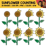 Sunflower Counting Scene Clipart