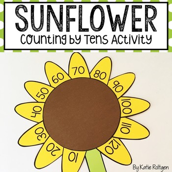 Sunflower Counting by Tens Craft {Kansas Day}