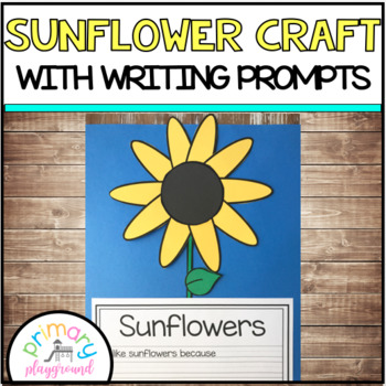 Sunflower Craft With Writing Prompts/Pages
