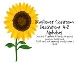 Sunflower Decor: A-Z Alphabet Cards