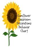 Sunflower Decor: Behavior Chart