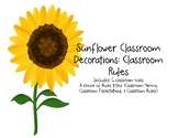Sunflower Decor: Classroom Rules