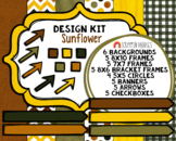 Sunflower Design Kit - Cover Page Templates - Planner Templates