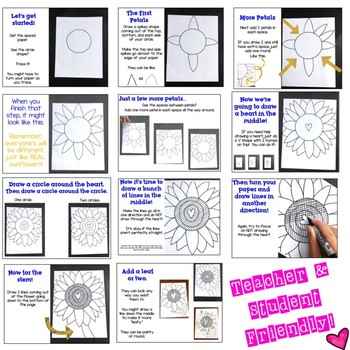 Sunflower Directed Drawing ... Spring ... Mother's Day ... Beautiful!