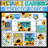Sunflower Distance Learning Backdrop Decor Kit - Editable