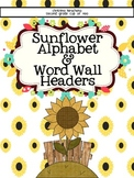 Sunflower Edition: Alphabet and Small Word Wall Cards
