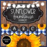 Sunflower Farmhouse EDITABLE Banner