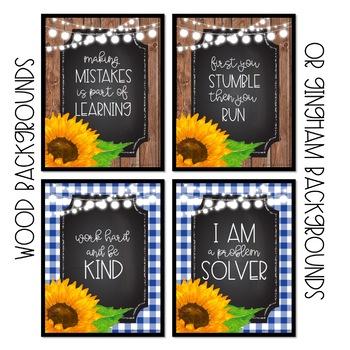 Sunflower Farmhouse Poster Set