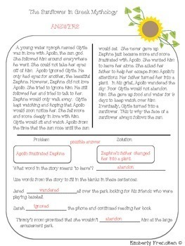 Sunflower Folktales: Non-Fiction passages and printables