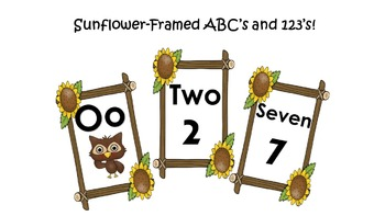 Sunflower-Framed ABC's and 123's