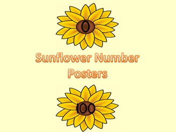 Sunflower Full Page Number Posters 0-100