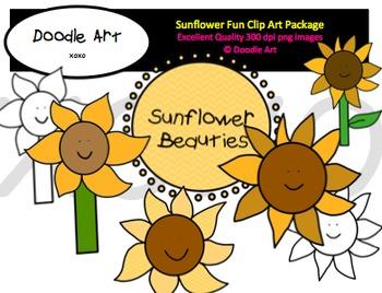Sunflower Fun Clipart Pack