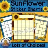 Sunflower Incentive Reward Sticker Charts