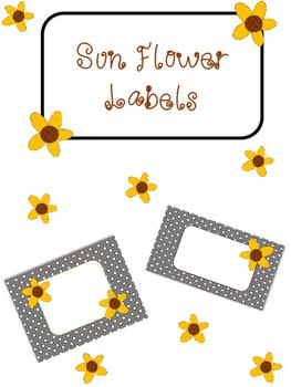 Sunflower Labels
