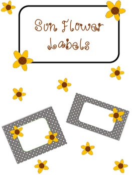Sunflower Labels