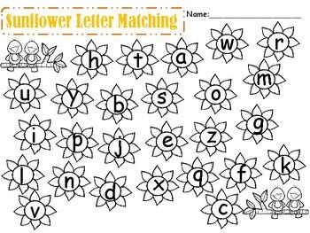 Sunflower Letter Matching