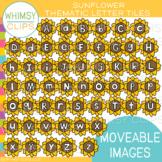 Sunflower Letter Tiles Clip Art {MOVEABLE IMAGES}
