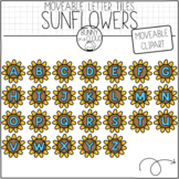 Sunflower Letter Tiles (Moveable Clipart) by Bunny On A Cloud