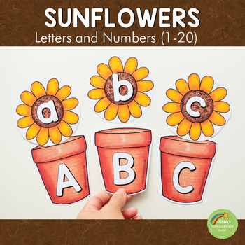 Sunflower Letters and Number Cards