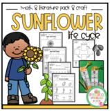 Sunflower Life Cycle Math & Literature and Sequencing Craft