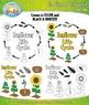 Sunflower Life Cycle Clipart {Zip-A-Dee-Doo-Dah Designs}
