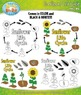 Sunflower Life Cycle Clipart Set — Comes In Color and Blac