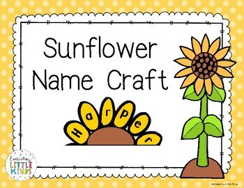 Sunflower Name Craft