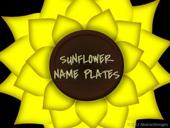 Sunflower Name Plate