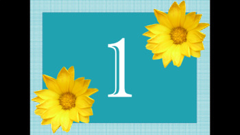Sunflower Number Decor