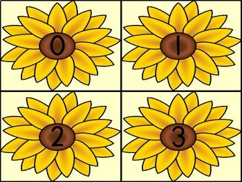 Sunflower Math  Number Flashcards 0-100