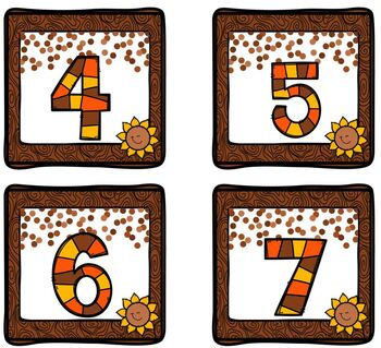 Sunflower Number Match Up