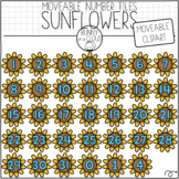 Sunflower Number Tiles (Moveable Clipart) by Bunny On A Cloud
