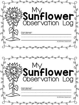 Sunflower Observation Log