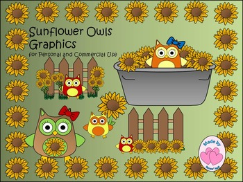 Sunflower Owls for Personal and Commercial Use