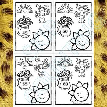 """Sunflower Petals """"Skip Counting by 5"""" (Skip Counting Flashcards)"""