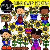 Sunflower Picking: Fall Clipart {Creative Clips Clipart}