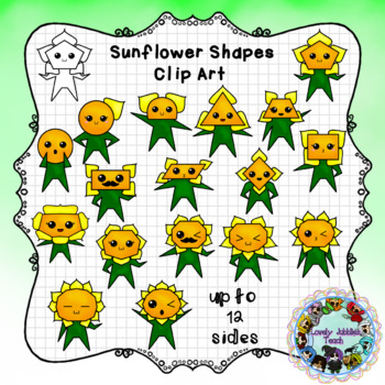 Sunflower Shapes Clip Art