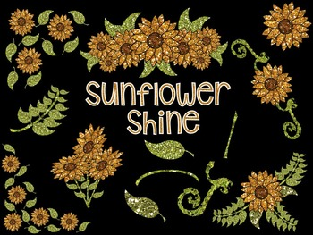 Sunflower Shine - Digital Clip Art