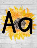 Sunflower & Shiplap Alphabet Line!!