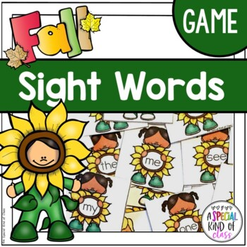 Sunflower Sight Word Game